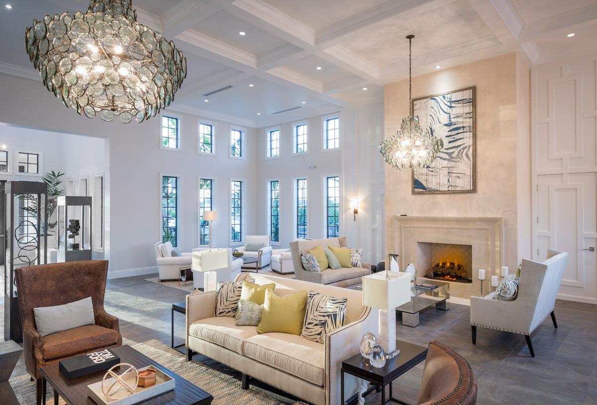 Boca Raton Royal Palm Polo Living Room Design