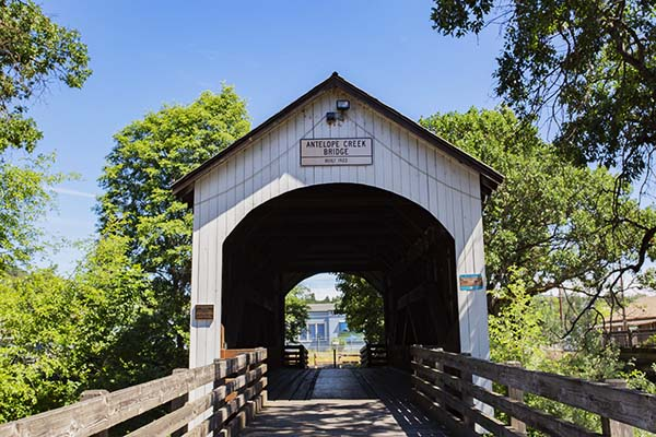 Historic Covered Bridge - Eagle Point Oregon
