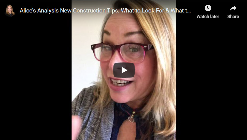 Video - new construction tips