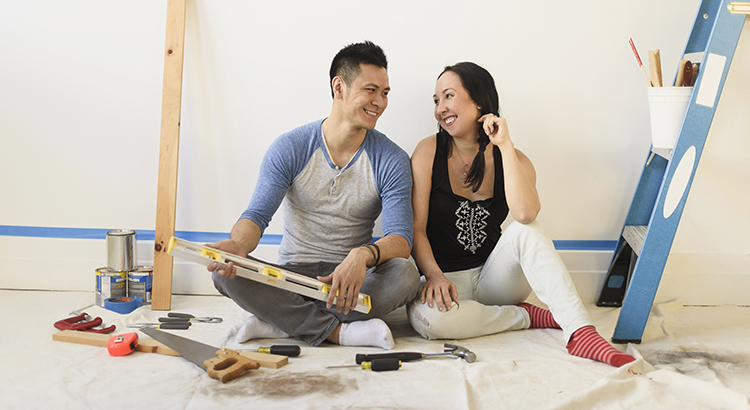 Couple renovating home