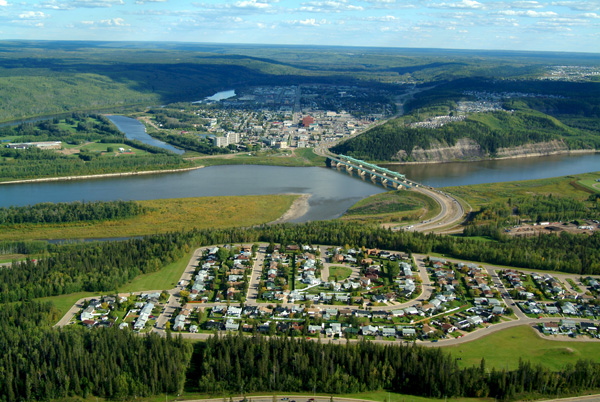Aerial view of Fort McMurray - Image Credit: http://en.wikipedia.org/wiki/File:Fort_mcmurray_aerial.jpg