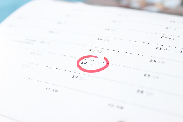Calendar - Image Credit: http://pixabay.com/en/users/Basti93-169785/