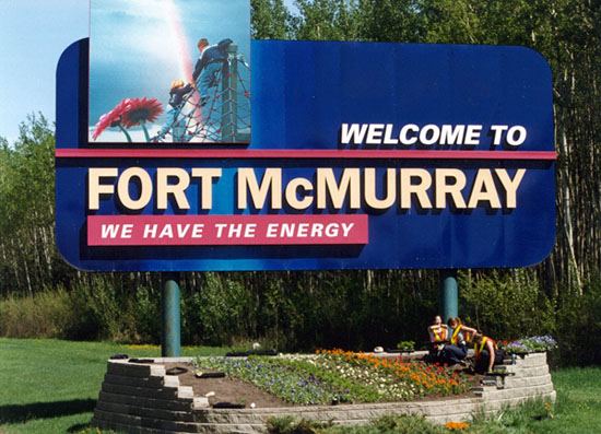 Welcome to Fort McMurray Sign