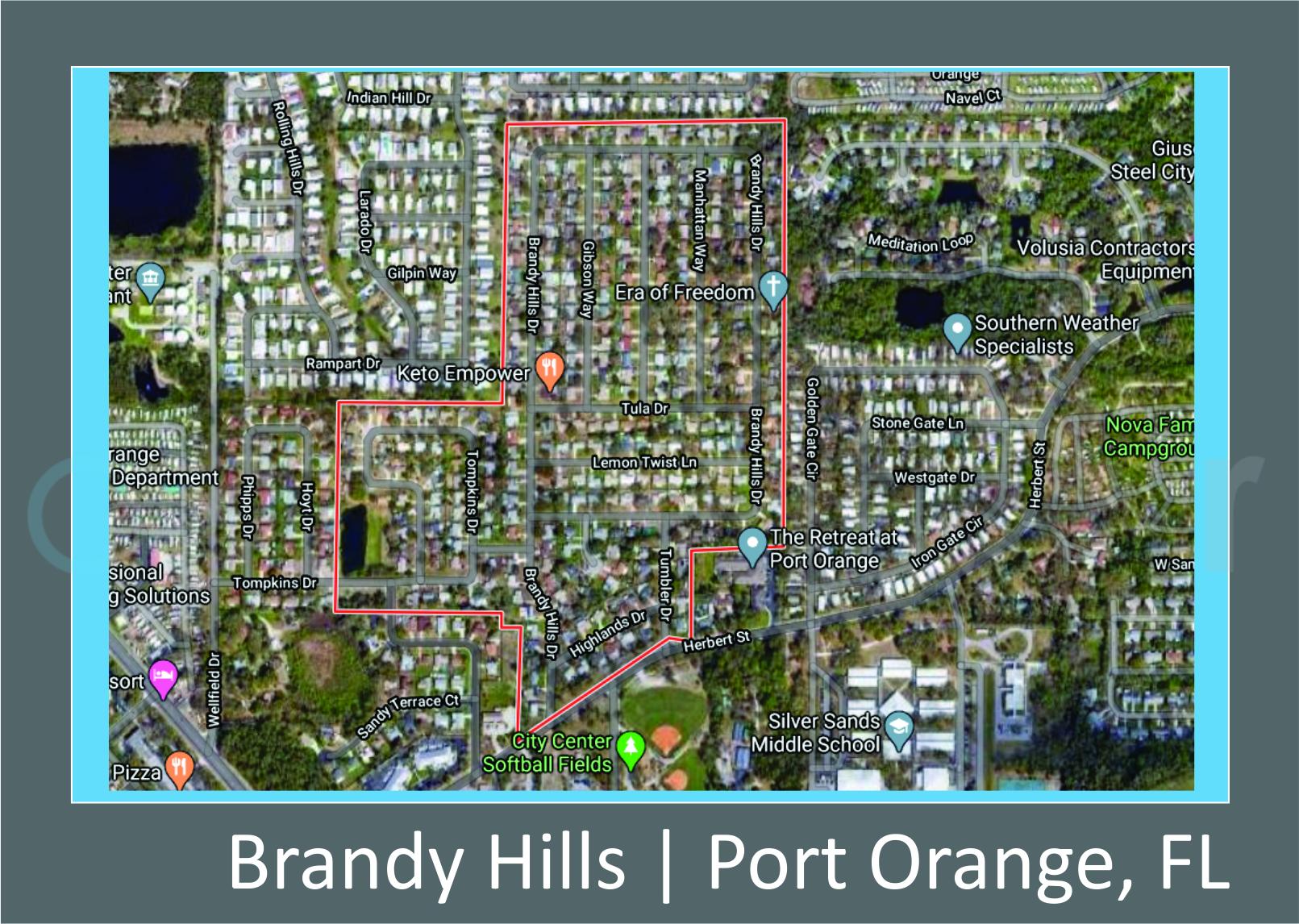 Map of Brandy Hills, Port Orange, FL