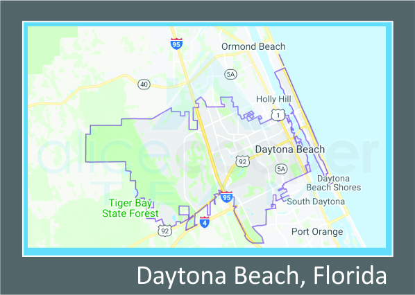 Map of Daytona Beach, FL