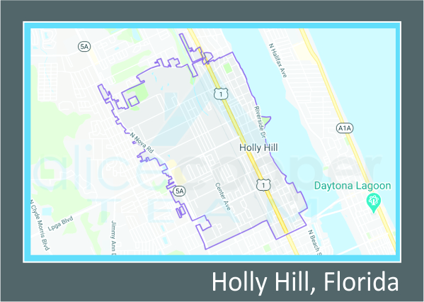 map of holly hill FL