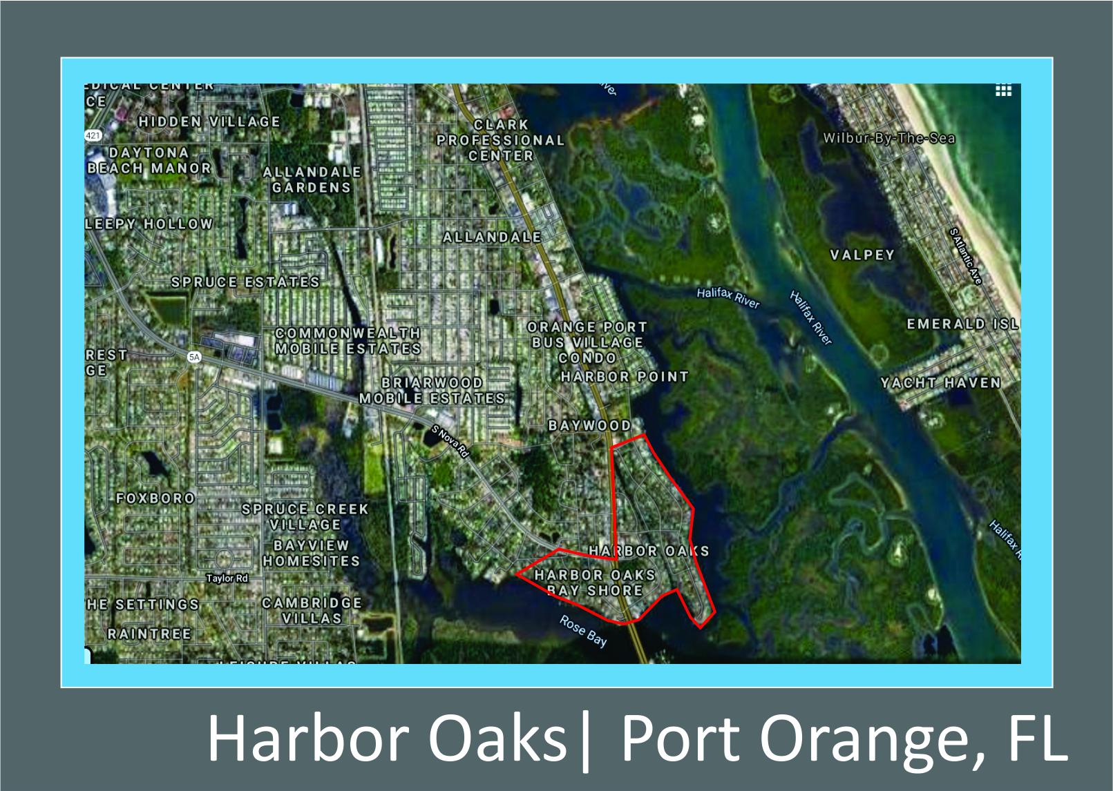 Map of Harbor Oaks, FL