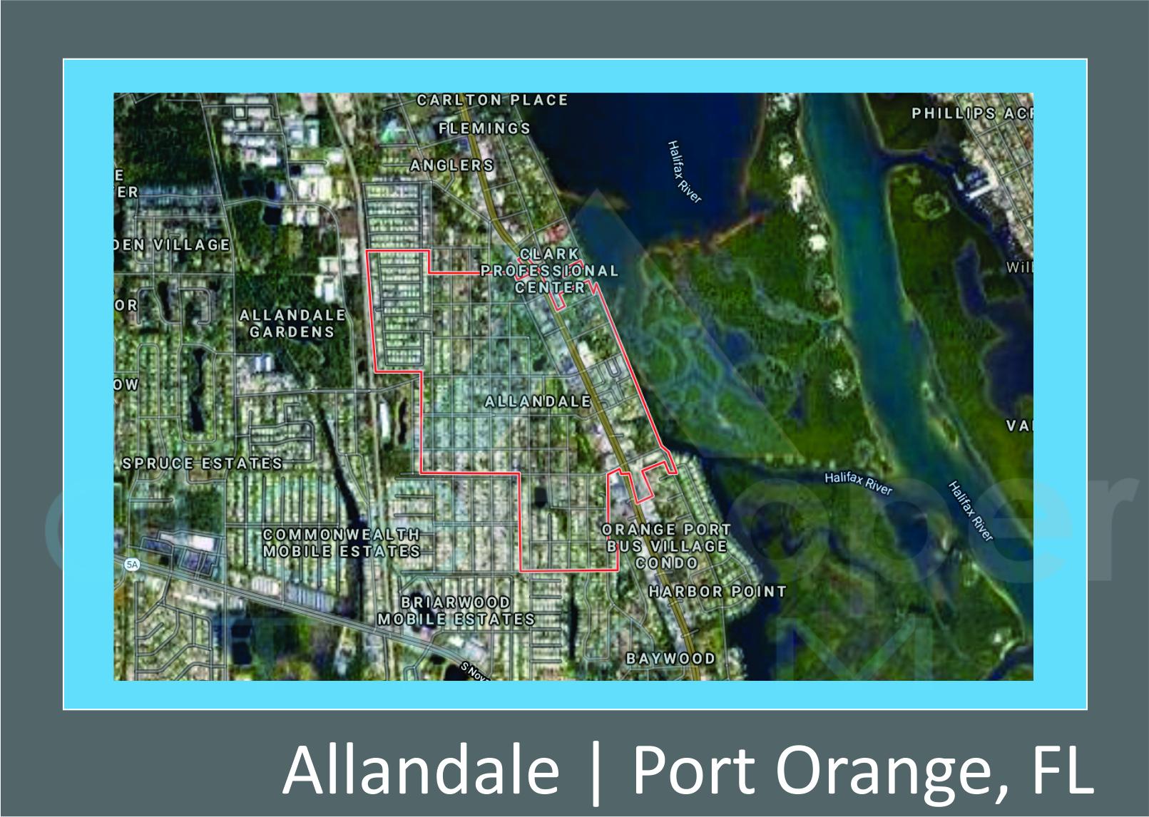 Map of Allandale, Port Orange, FL
