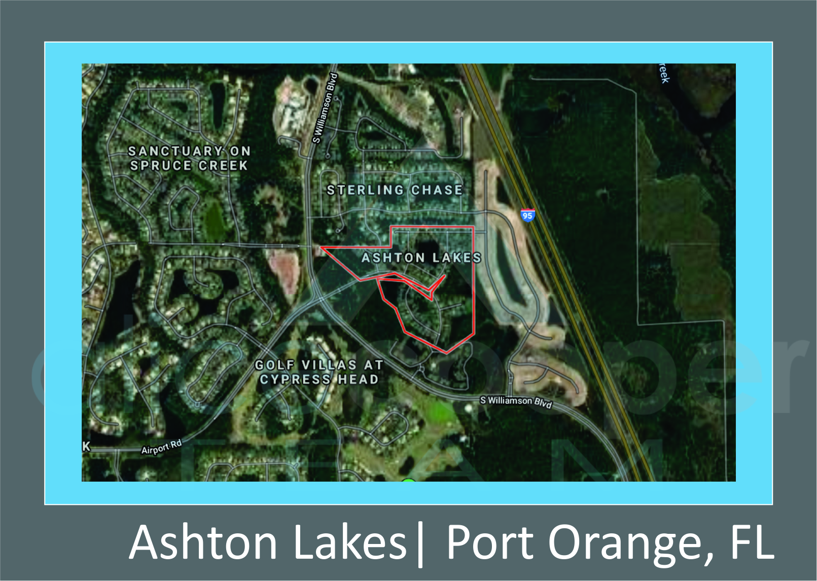 Map of Ashton Lakes, Port Orange, FL