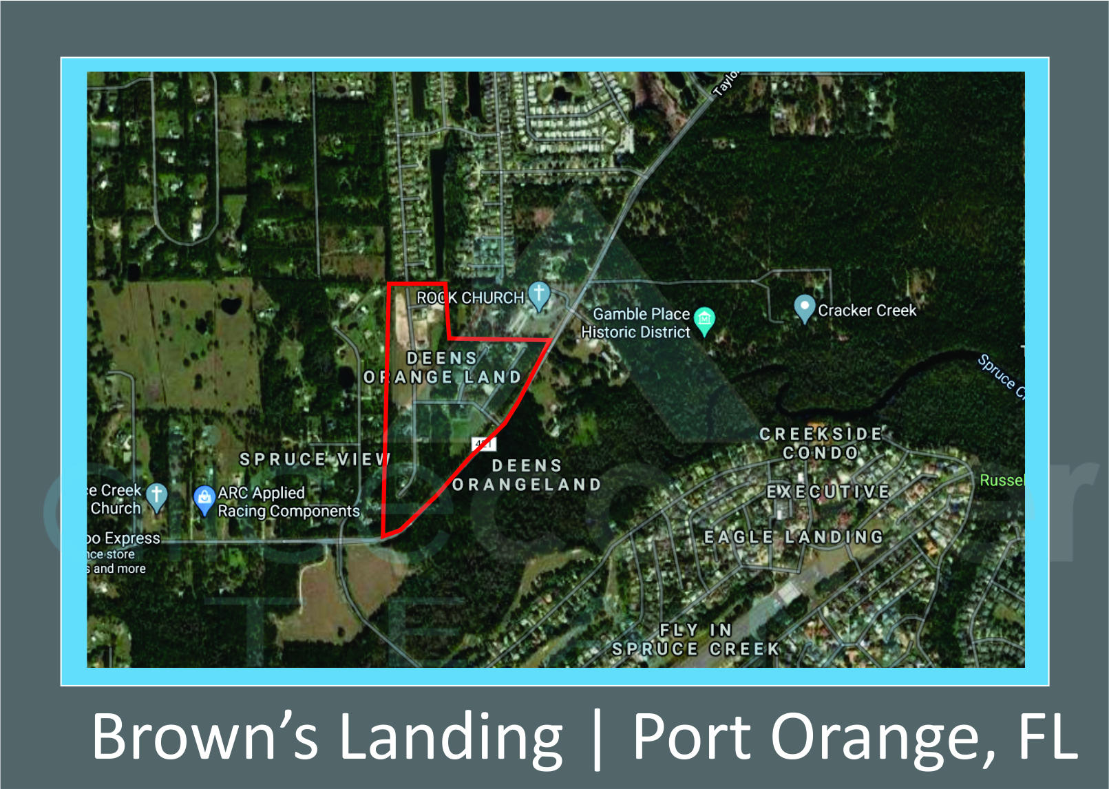 Map of Brown's Landing, Port Orange, FL