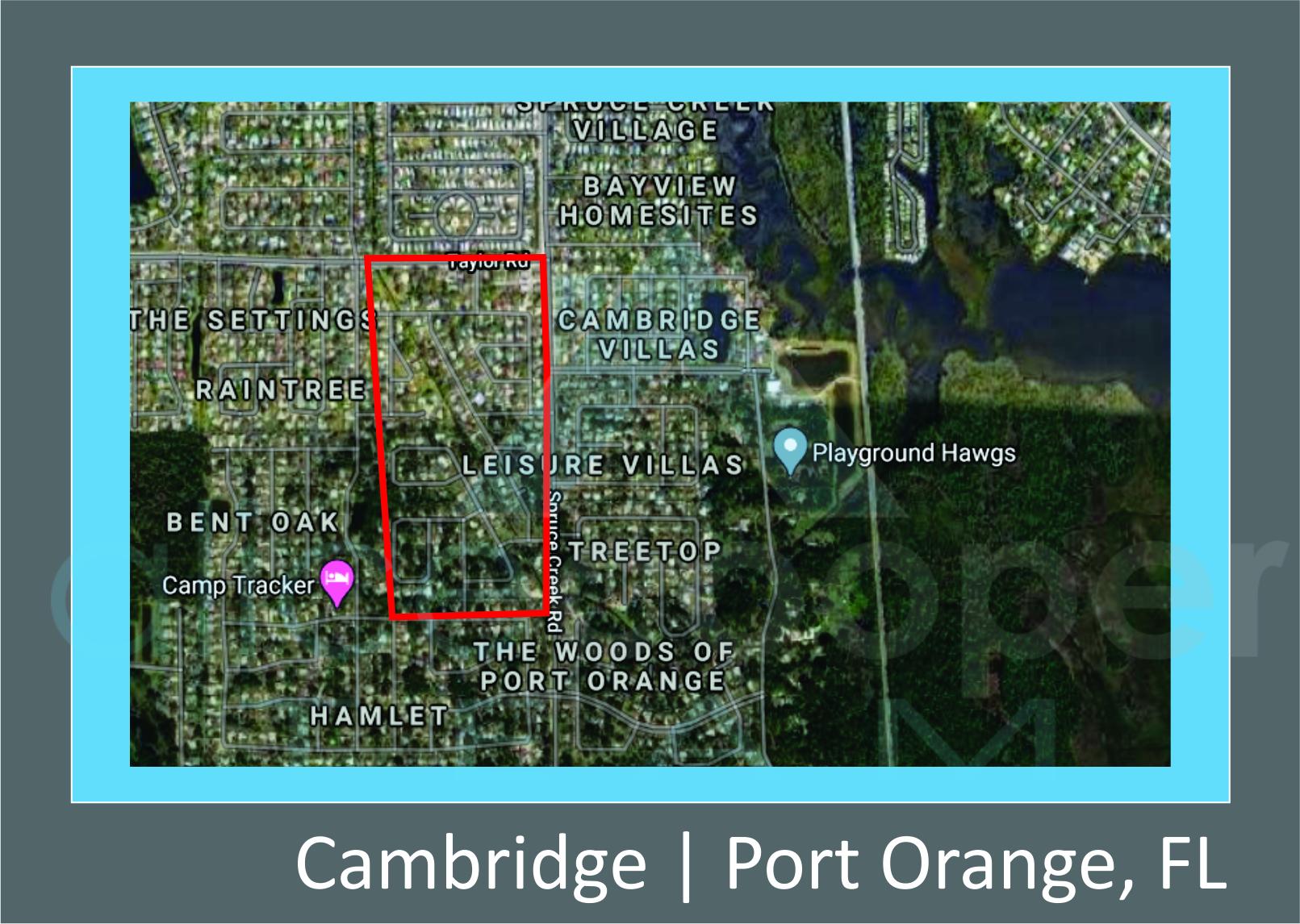 Map of Cambridge, Port Orange, FL