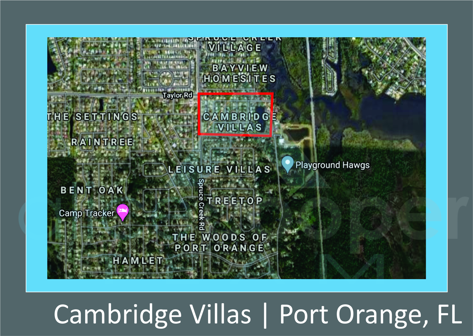 Map of Cambridge Villas, Port Orange, FL