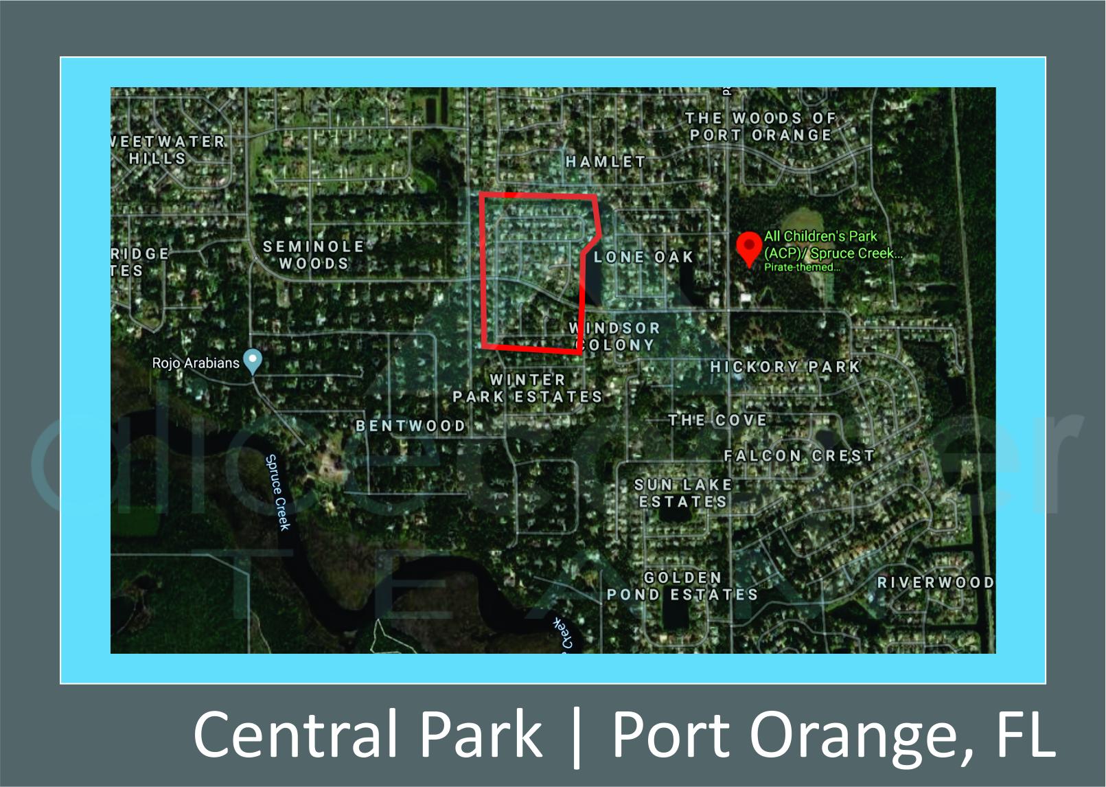 Map of Central Park Port Orange
