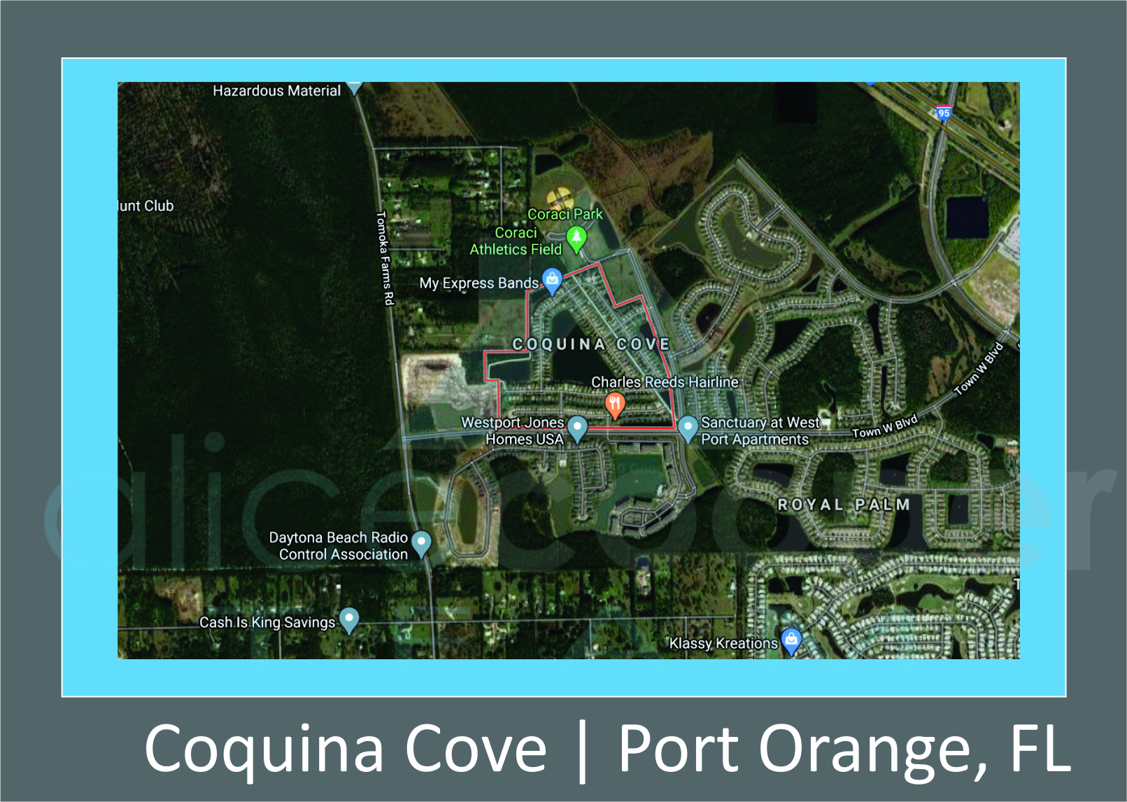 Map of Coquina Cove, Port Orange, FL
