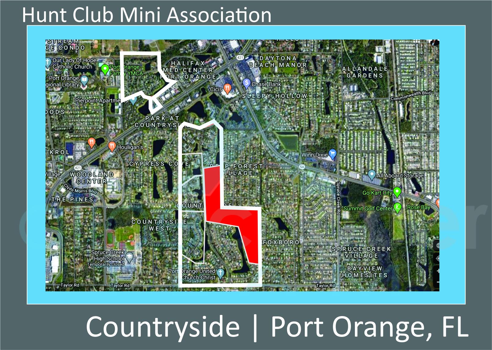 Map of Hunt Club in Countryside Neighborhood