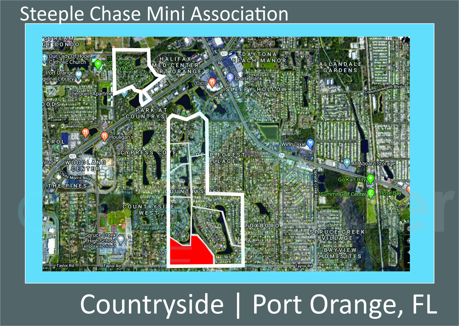 Map of Steeple Chase section of Countryside