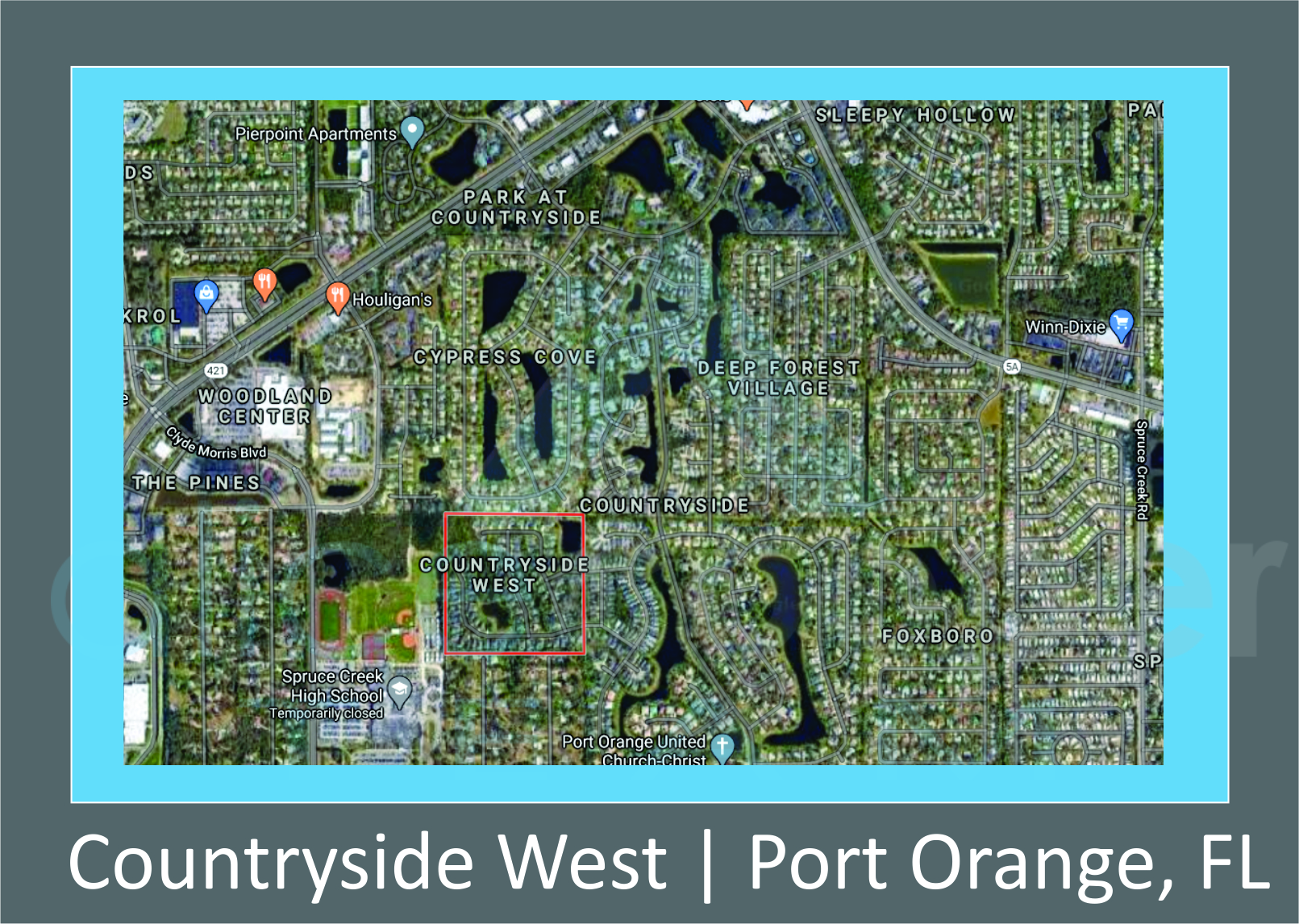 Map of Countryside West Port Orange, FL
