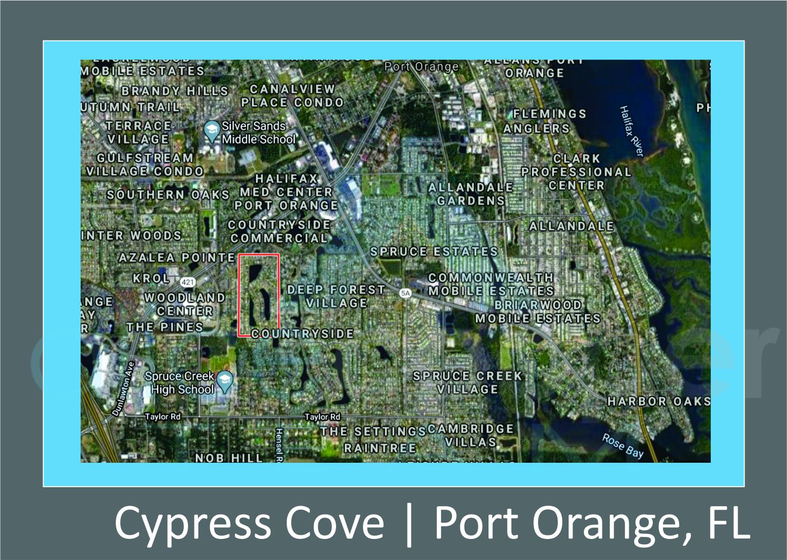 Map of Cypress Cove Port Orange FL