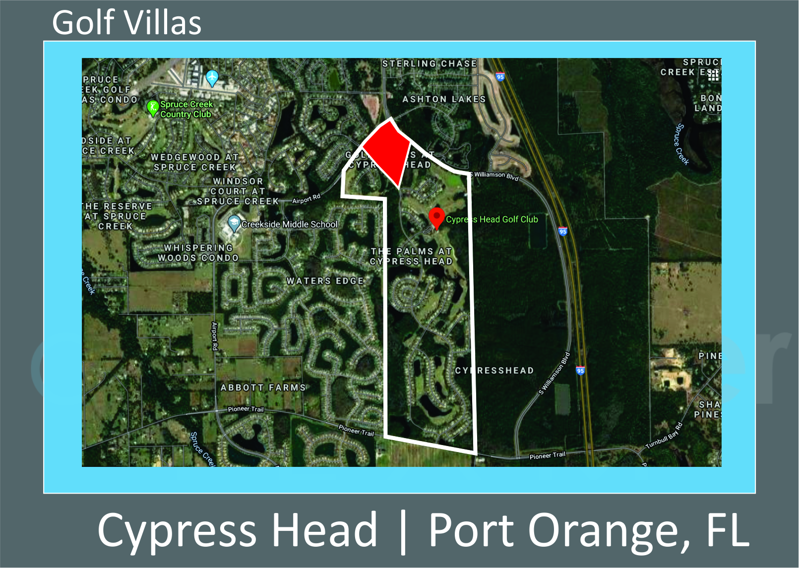 Map of Cypress Head Golf Villas, Port Orange, FL