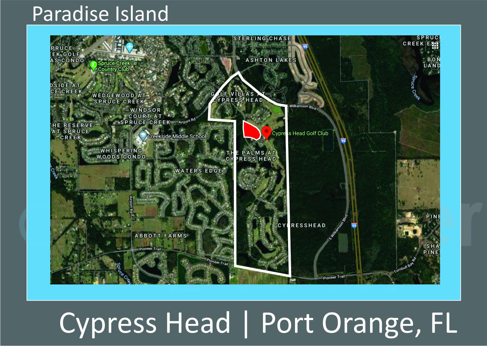 Map of Cypress Head Paradise Island Port Orange FL