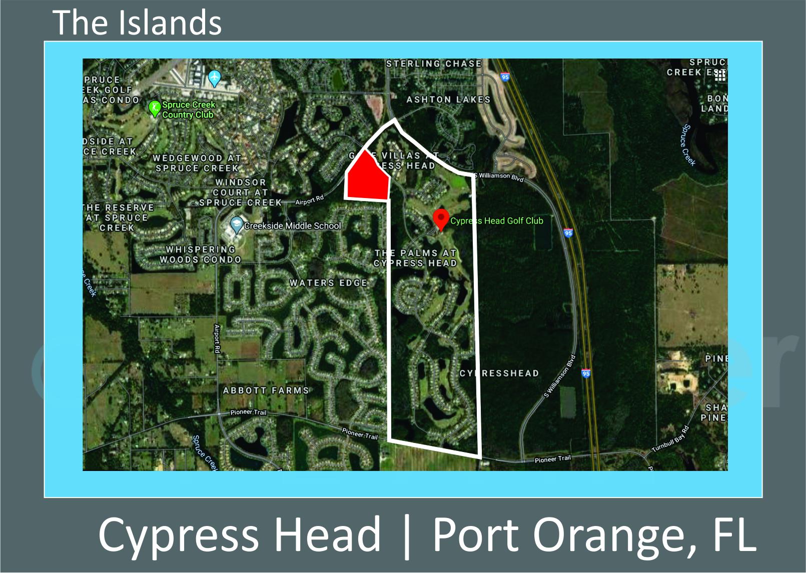 Map of Cypress Head The Islands, Port Orange, FL