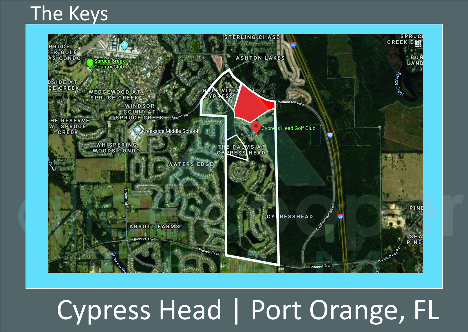 Map of Cypress Head The Keys Port Orange FL