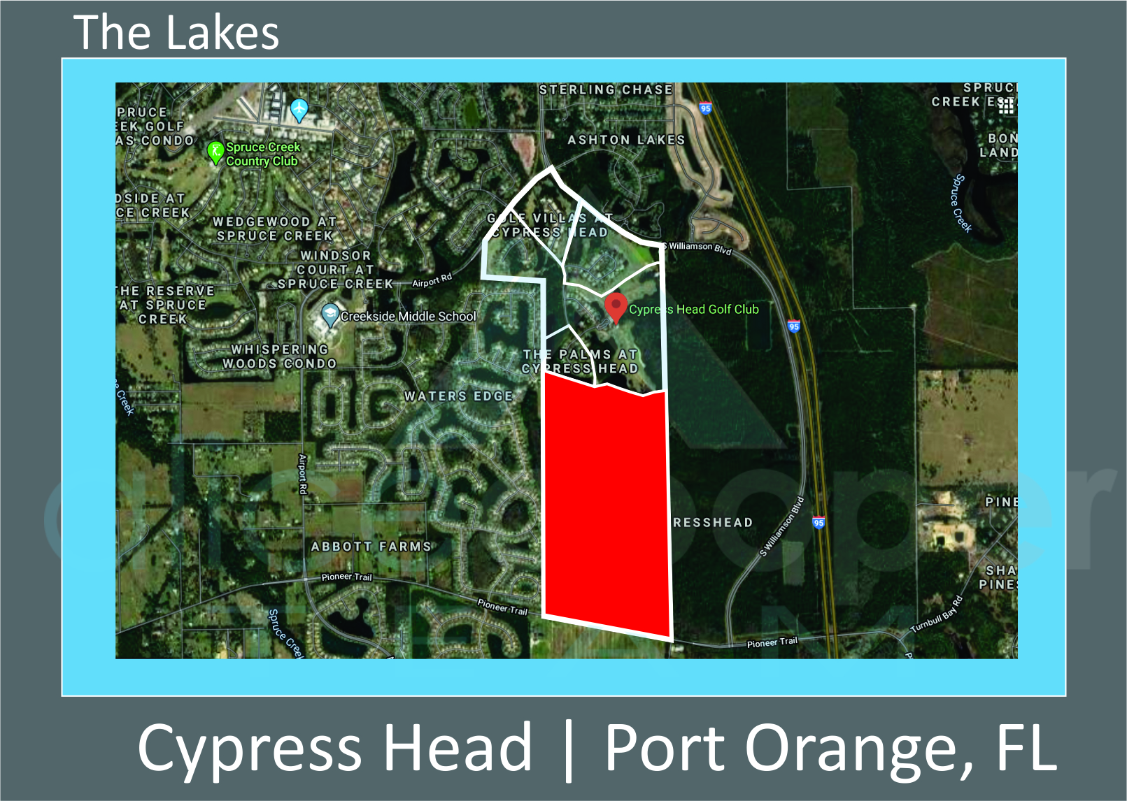 Map of Cypress Head The Lakes Port Orange FL