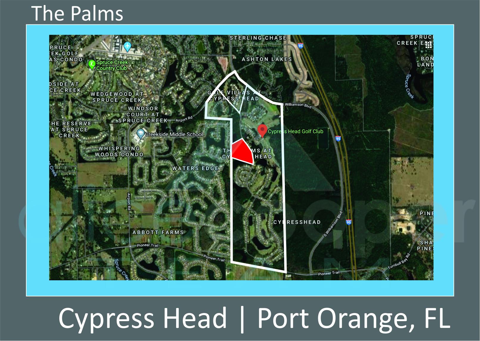 Map of Cypress Head The Palms Port Orange FL
