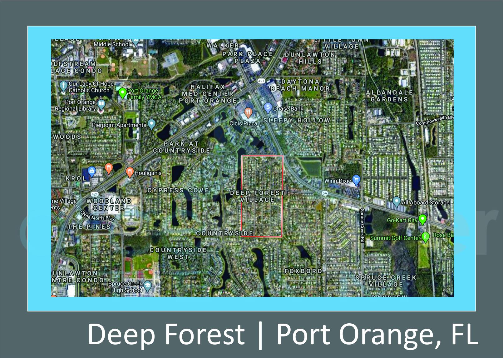 Map of Deep Forest Port Orange, FL