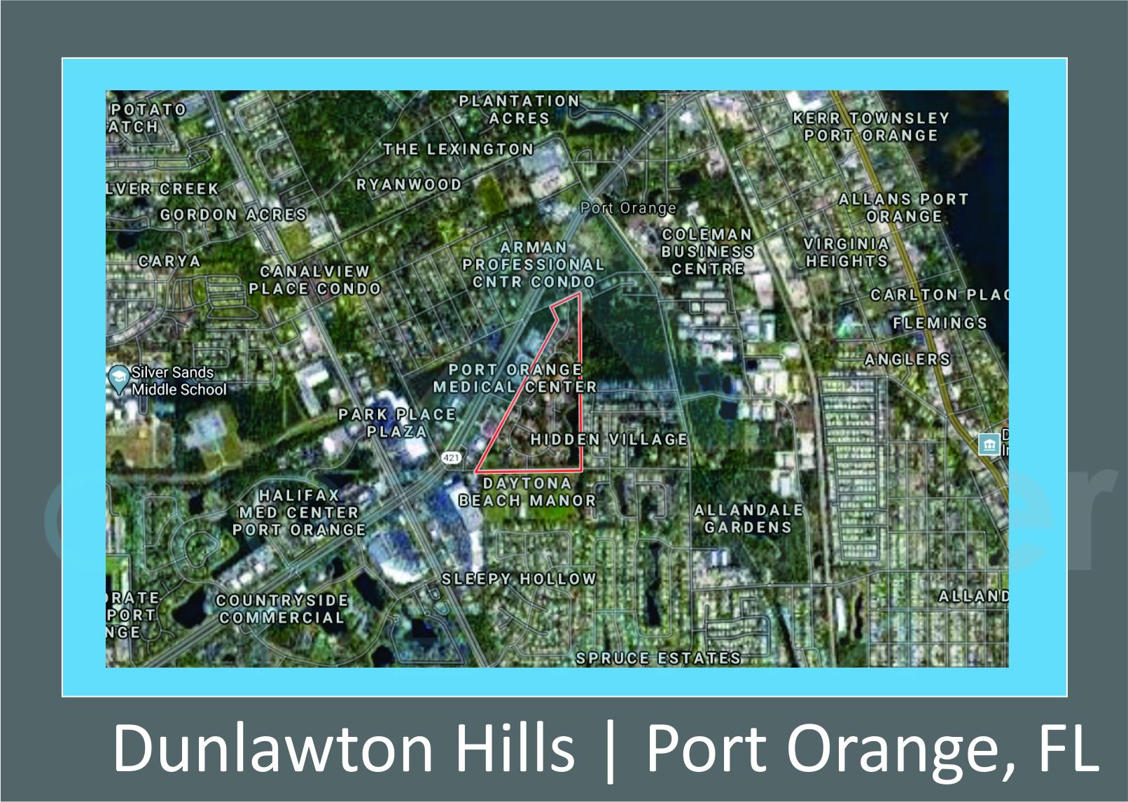 Map of Dunlawton Hills Port Orange, FL