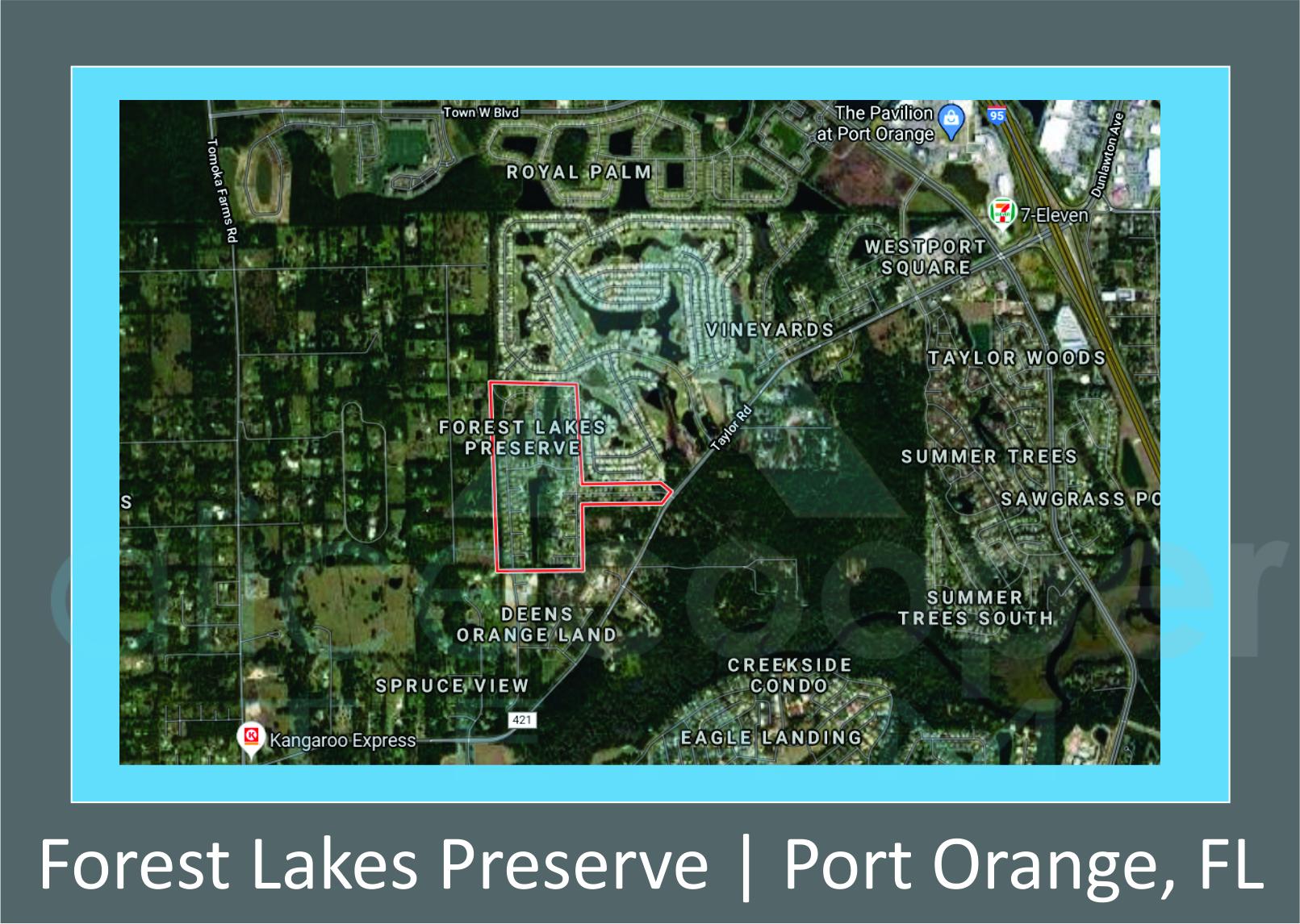 Map of Forest Lakes Preserve Port Orange, FL
