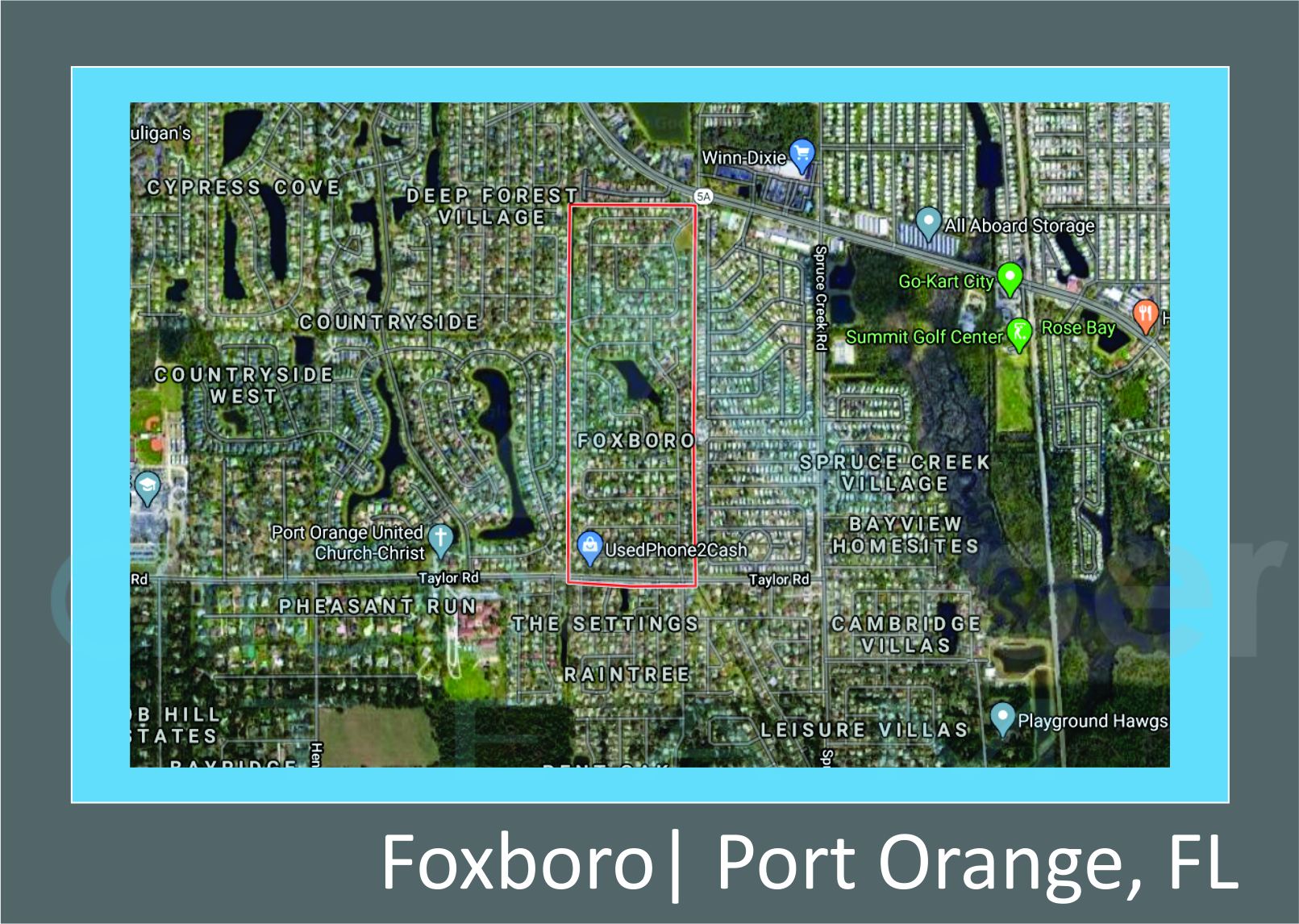 Map of Foxboro Port Orange, FL