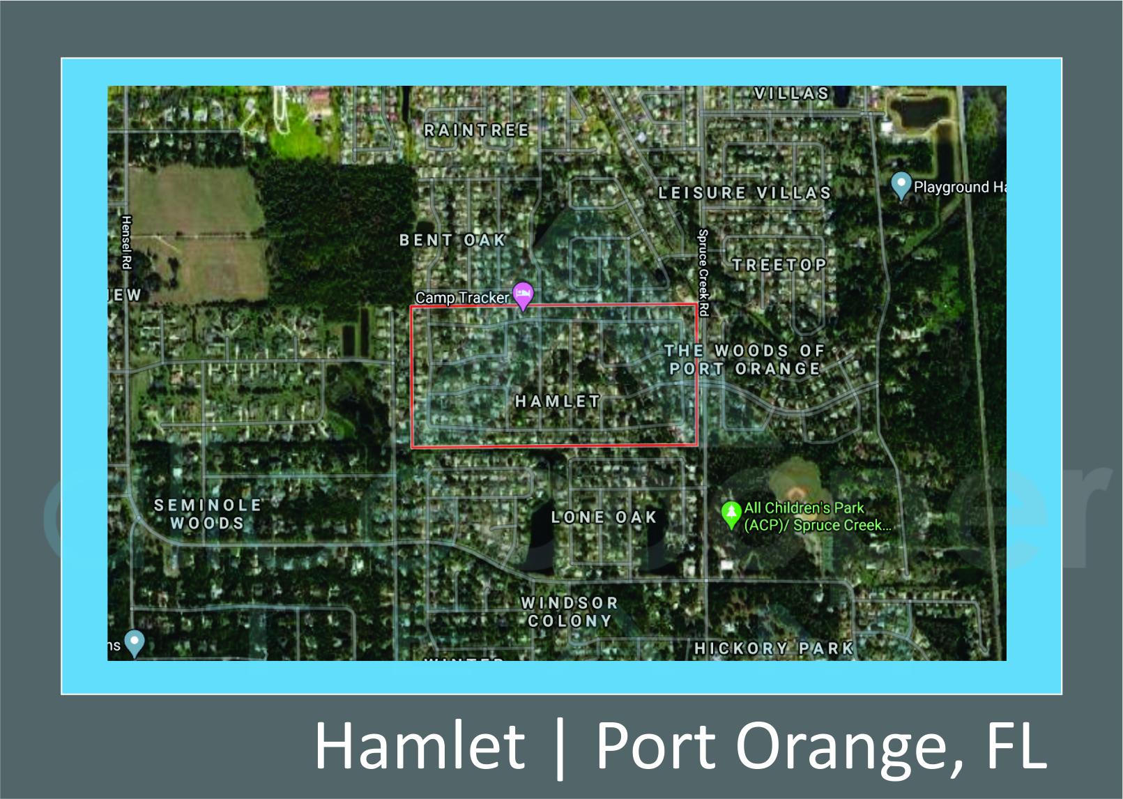 Map of Hamlet Port Orange, Fl