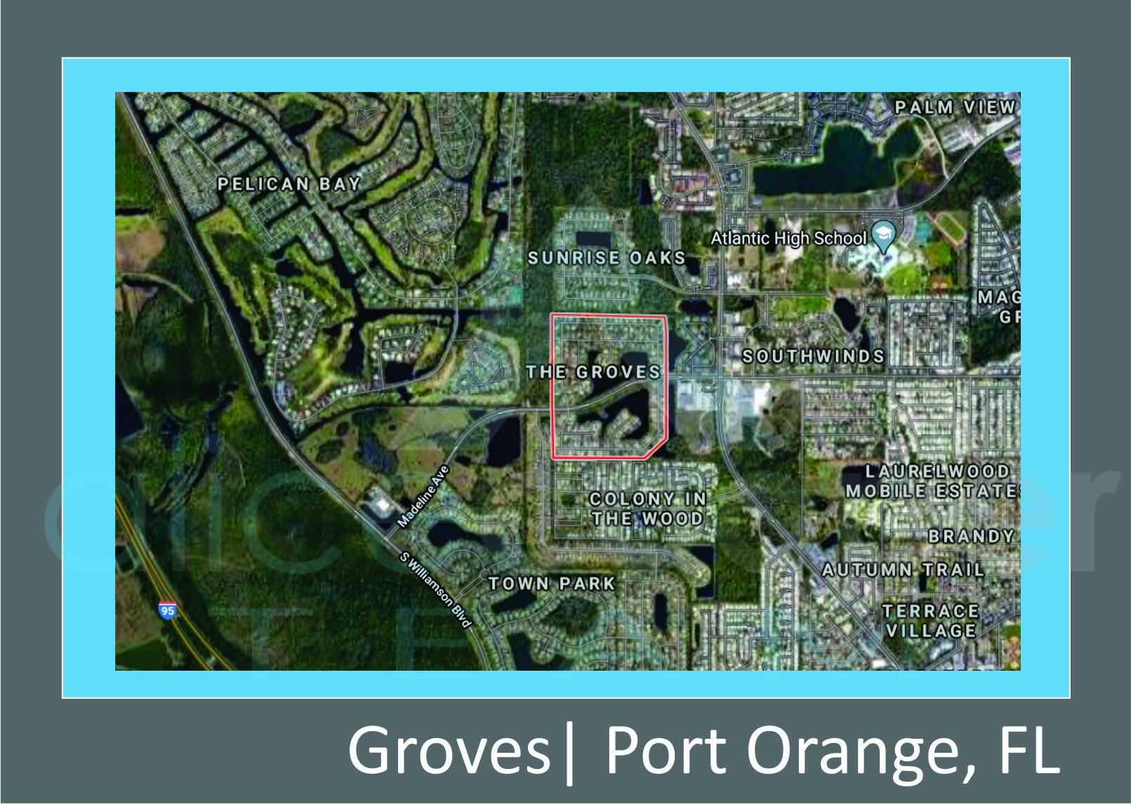 Map of The Groves in Port Orange, FL