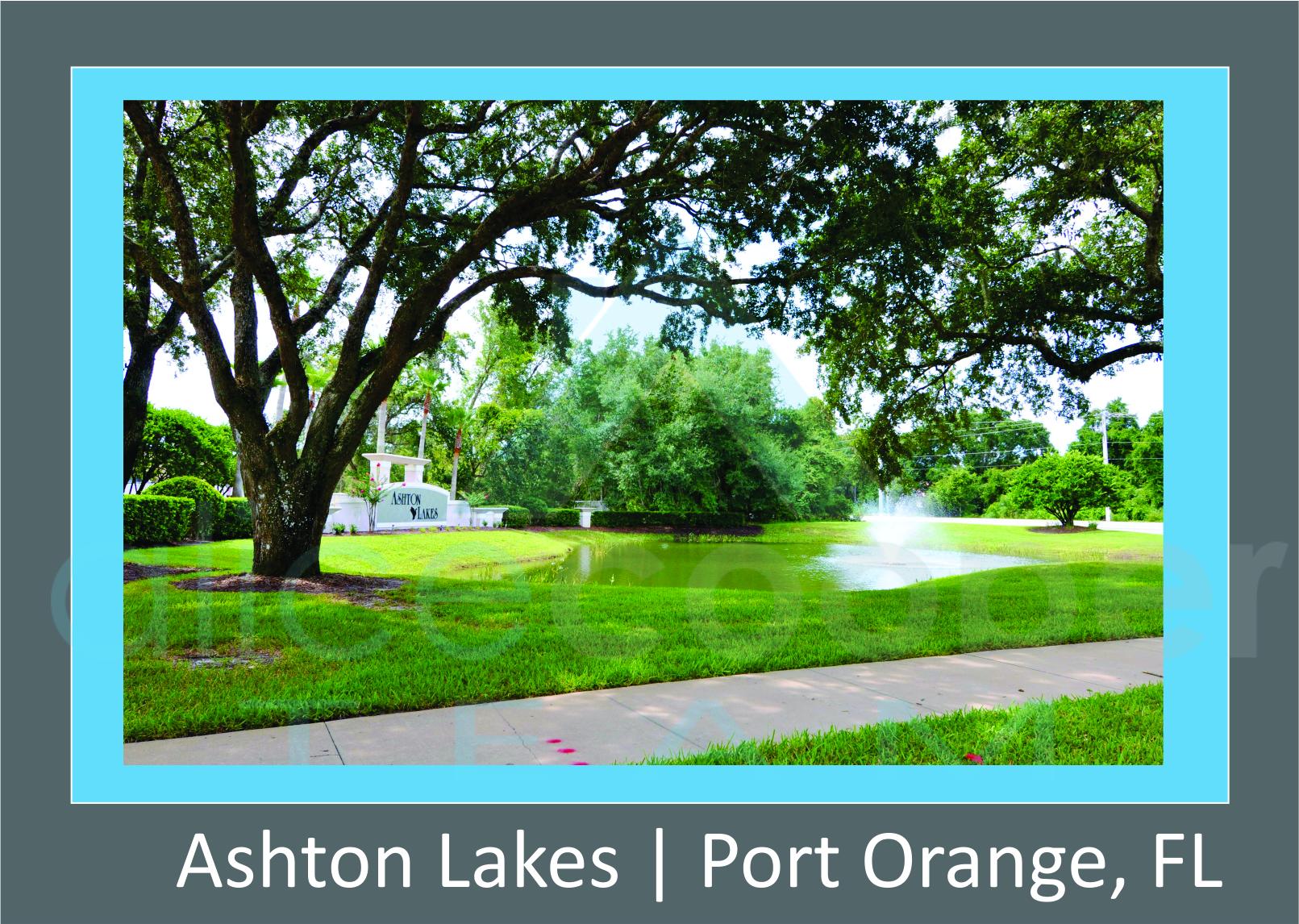 Ashton Lakes Neighborhood Entrance Sign