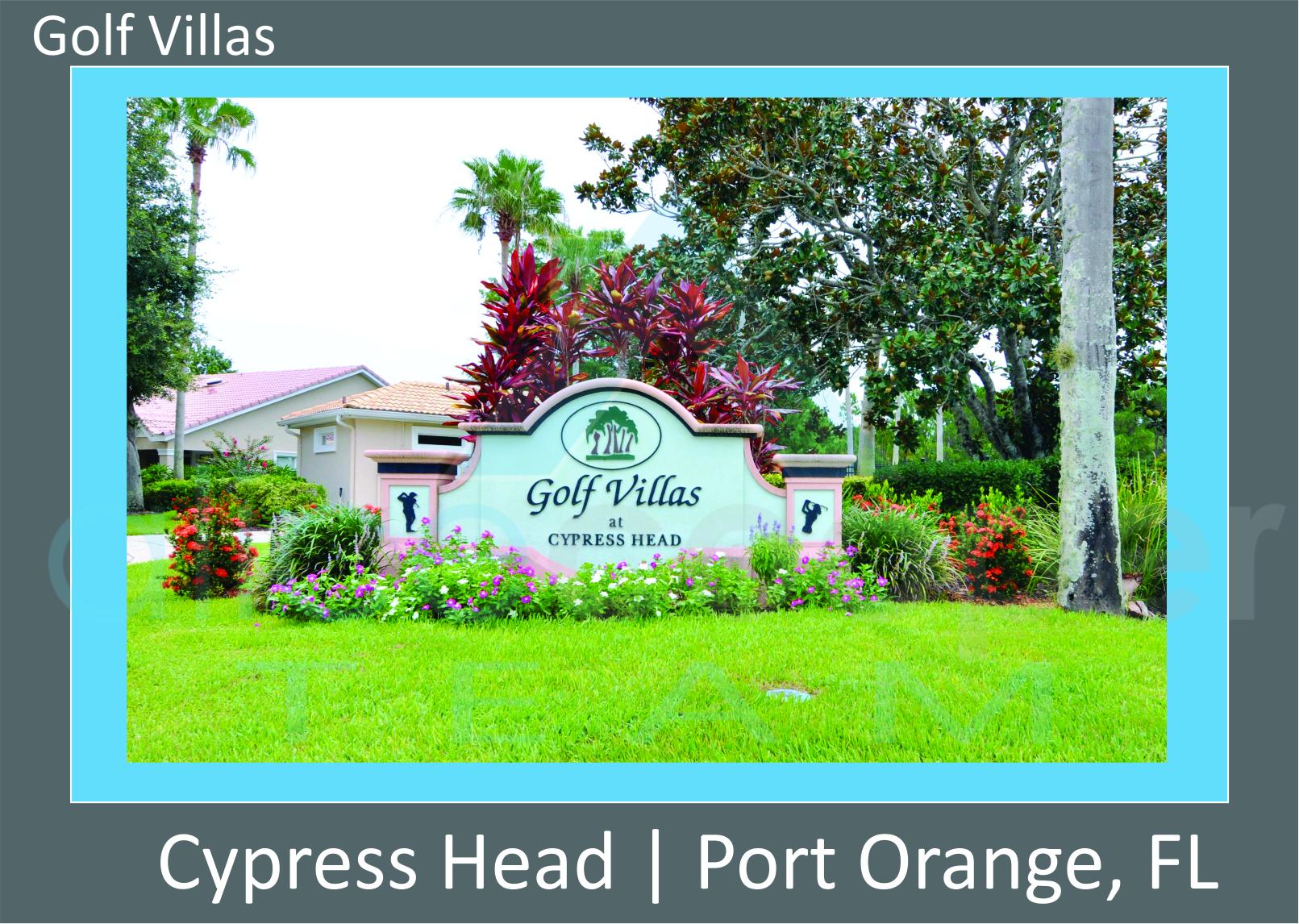 Cypress Head Golf Villas Neighborhood Entrance Sign