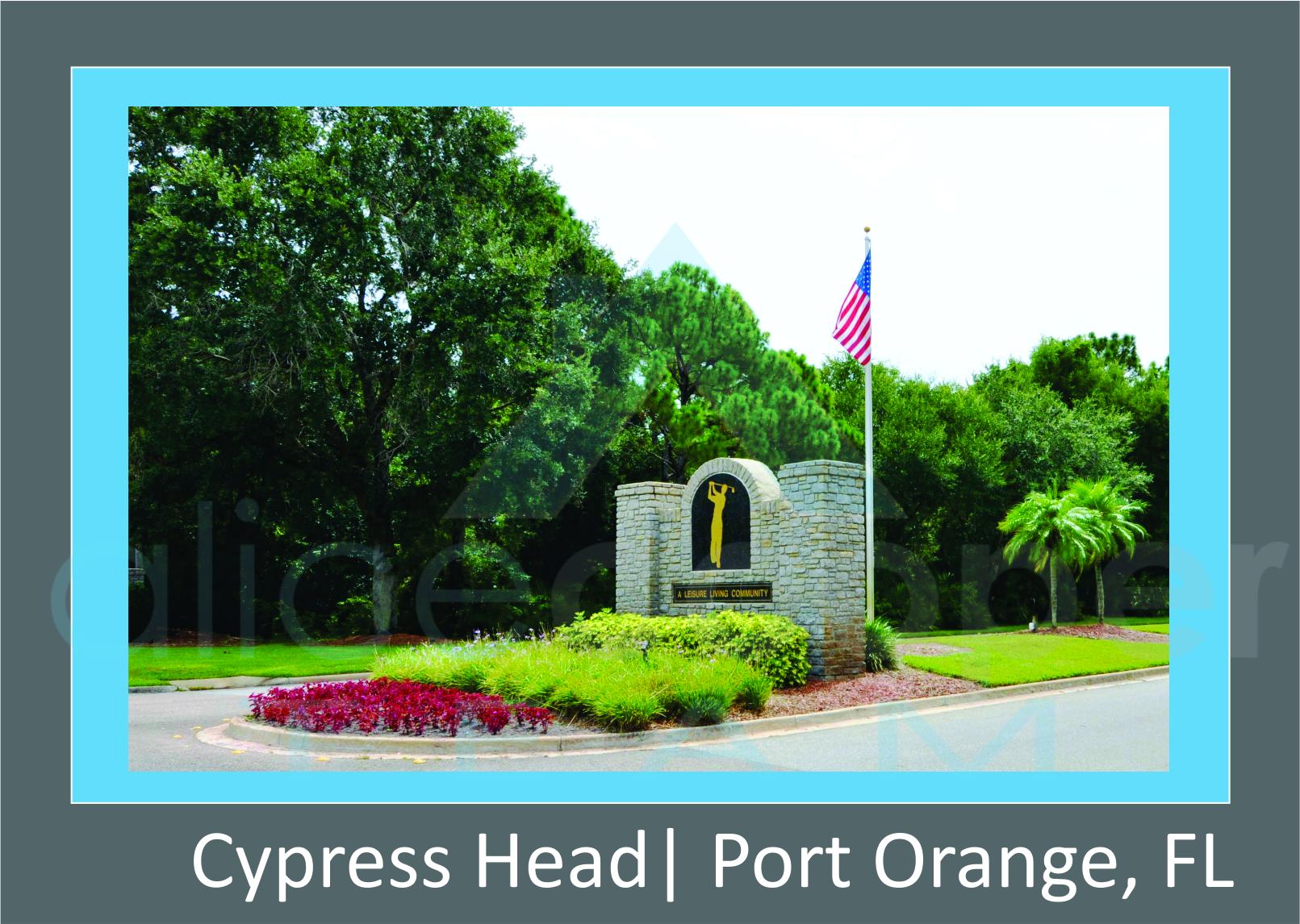 Cypress Head Neighborhood Entrance Sign