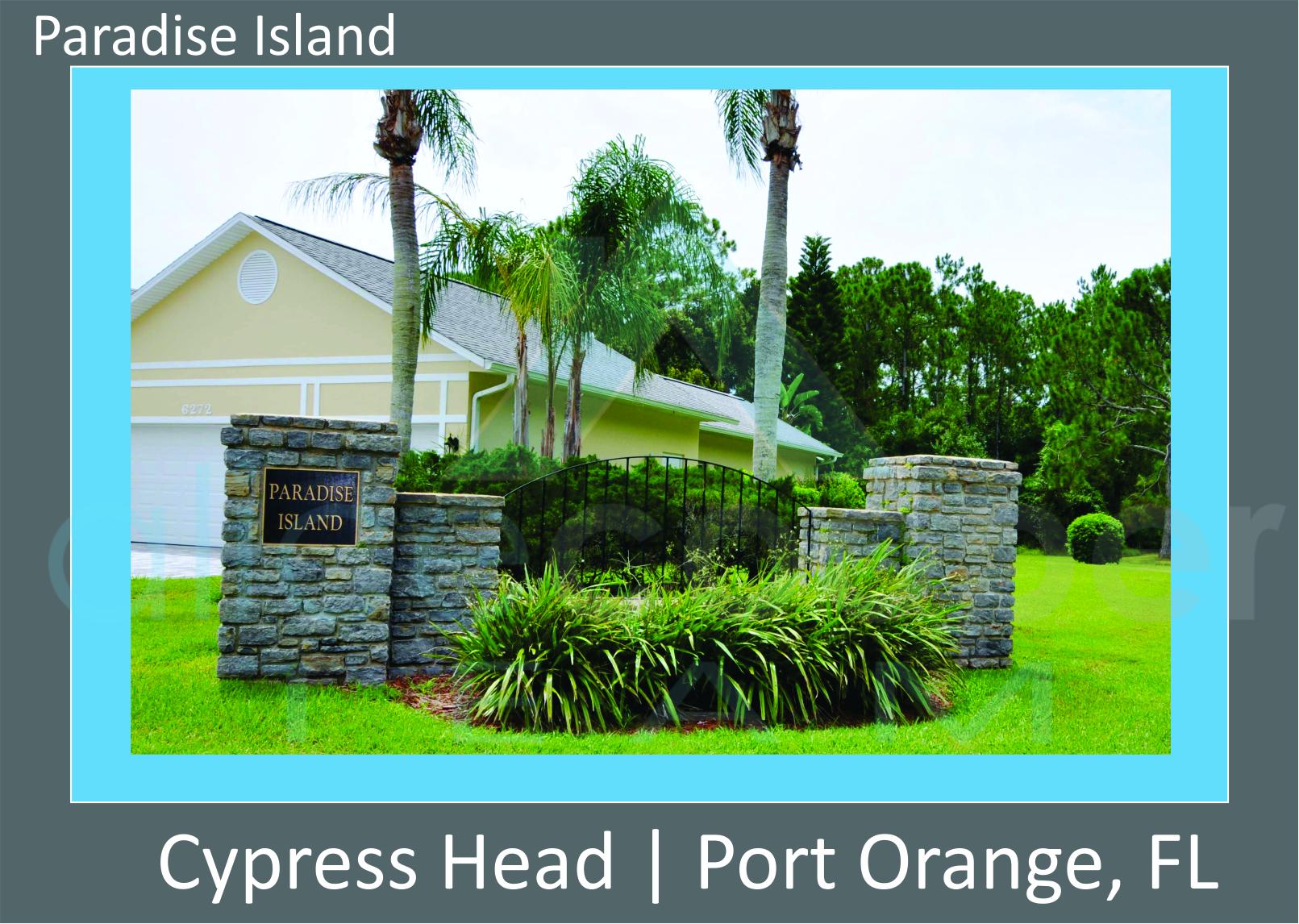 Cypress Head Paradise Island Neighborhood Entrance