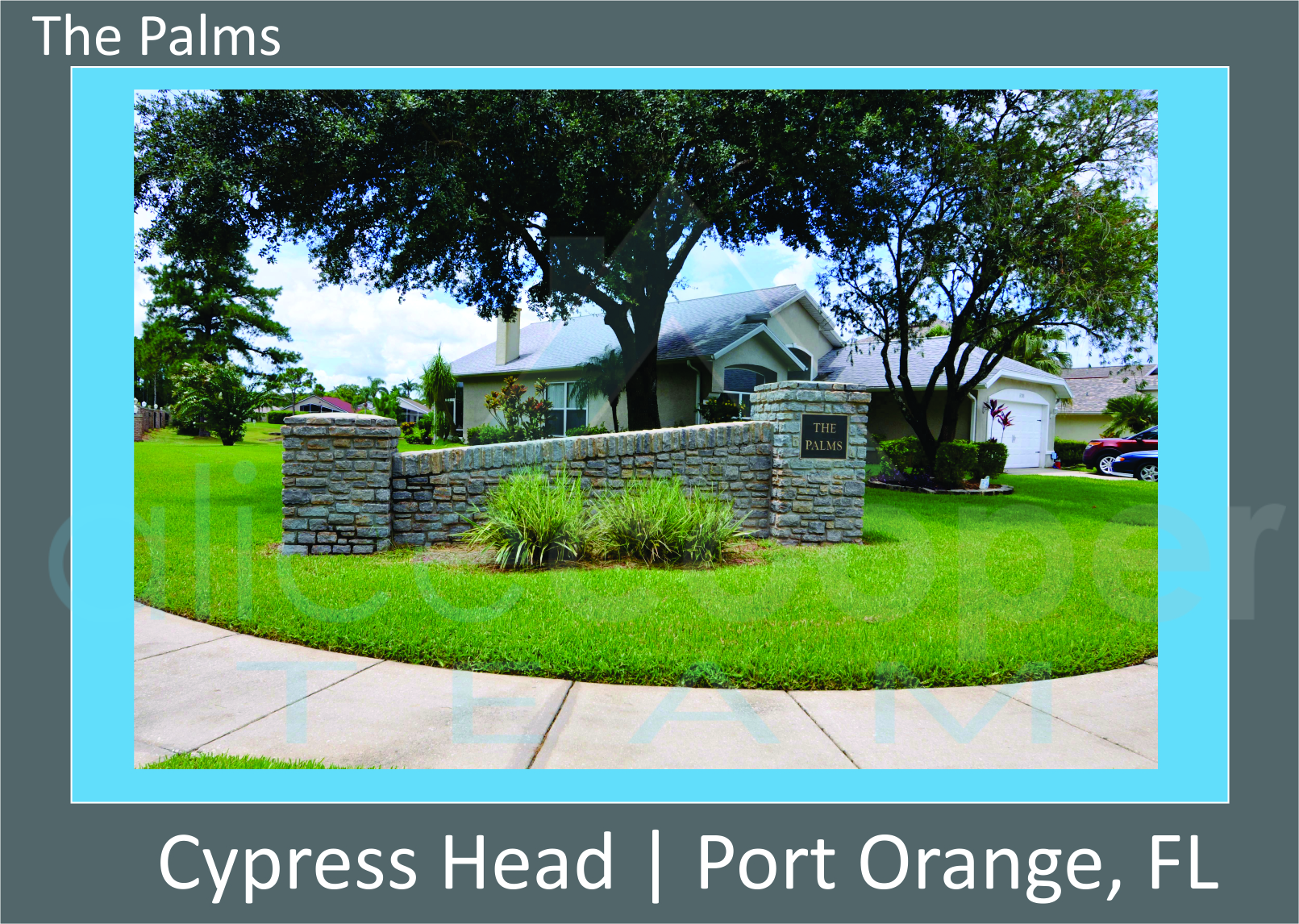 Cypress Head The Palms Neighborhood Entrance