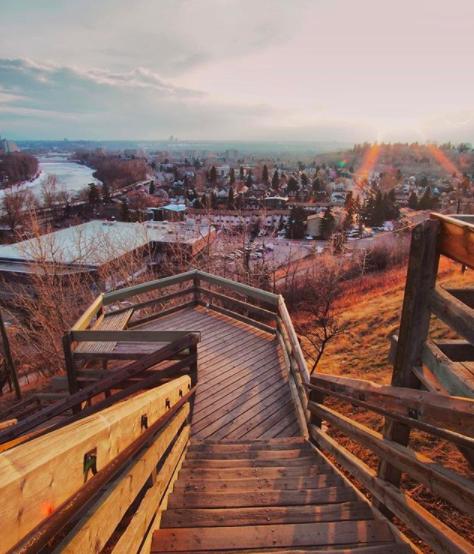The Memorial Stairs in Calgary