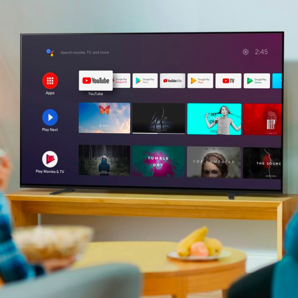A sony TV playing Netflix