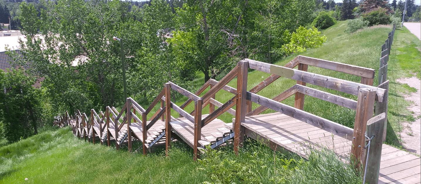 The Glencoe Club Stairs in Calgary, Alberta