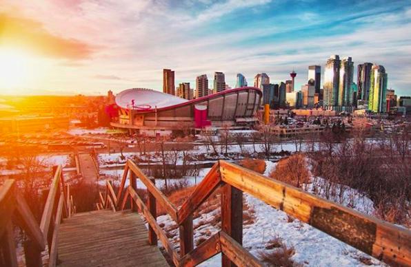 The Scotsman's Hill Stairs in Calgary, Alberta