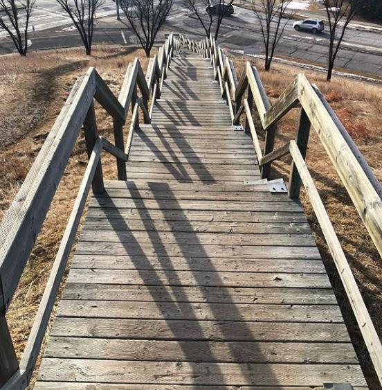The Edgemont Stairs in Calgary, Alberta