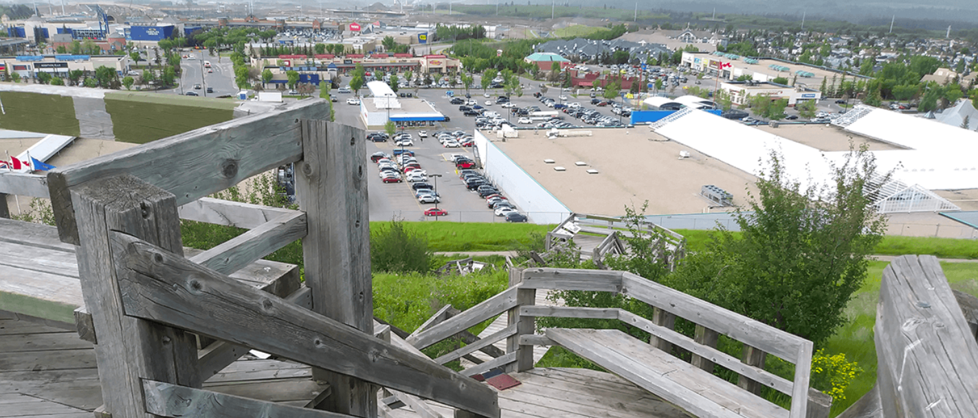 The Signal Hill Stairs in Calgary, Alberta