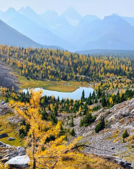 Chester Lake trail near Calgary, Alberta