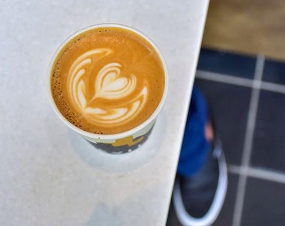 Pumpkin spice white chocolate latte from Deville Coffee in Calgary, Alberta