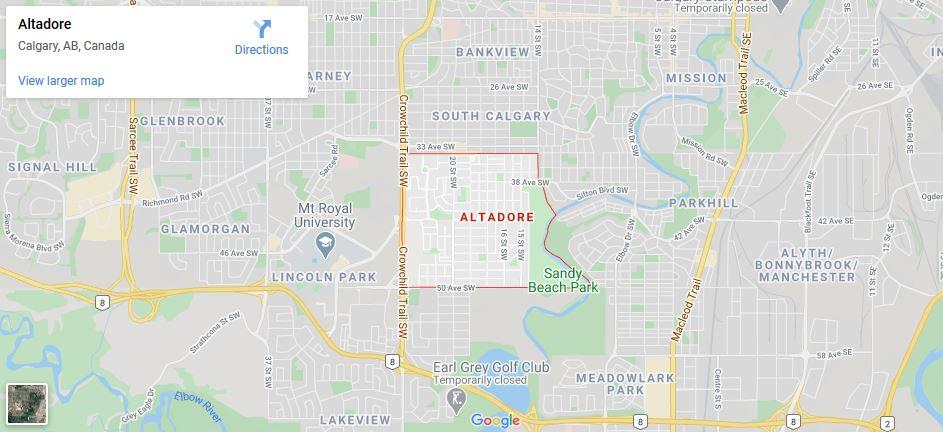 Map of Altadore