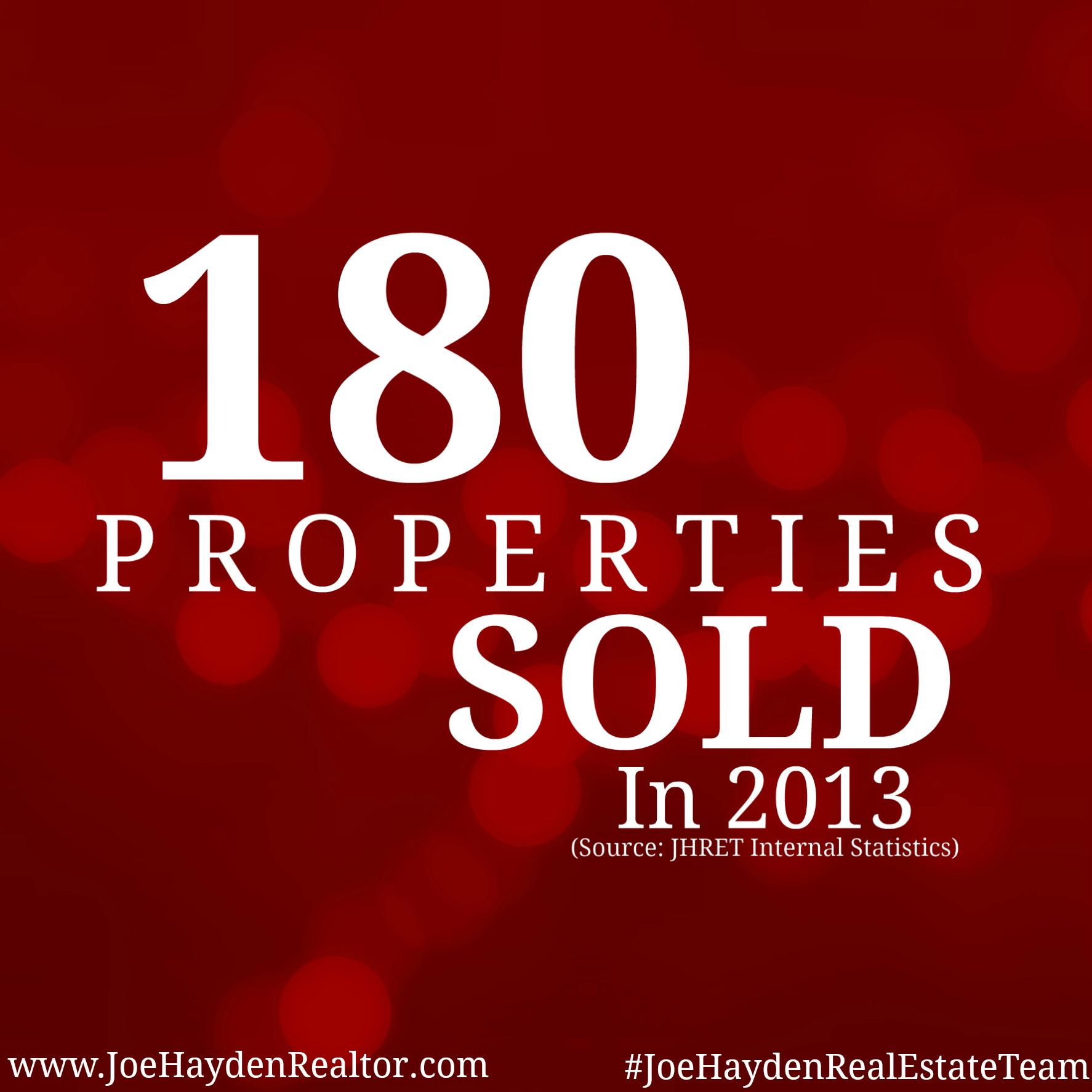 180 Properties Sold