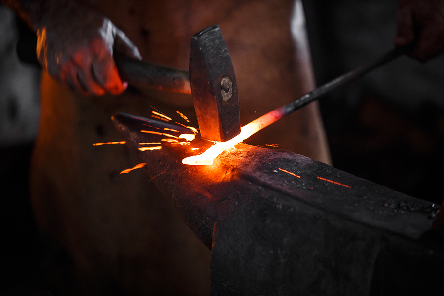 Beginner Blacksmith Class at the Kaviar Forge and Gallery